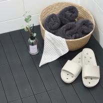 건식화장실 발판 셀프 조립식바닥 타일 블랙