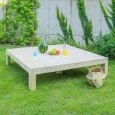 원목 조립식평상 나무평상 캠핑테이블 (대형/무도장)