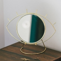 [도이] 싸이클롭스 화장대 탁상 거울 골드