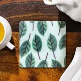 [원더스토어] 티코스터 TPU 컵받침 2P 나뭇잎