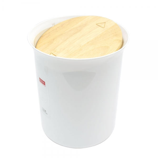 홈앤미 프리미엄 위생용품 스윙(원목) 휴지통 5L
