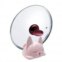 홈앤미 고양이 냄비뚜껑거치대 핑크