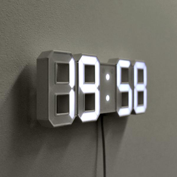 무아스 미니 LED 시계 - 벽에 걸고, 테이블 위에 세워 사용