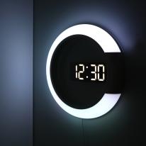 무드등 듀얼 미러클락 LED벽시계