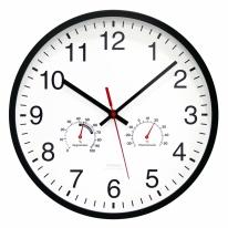 [무아스] 무소음 온습도벽시계