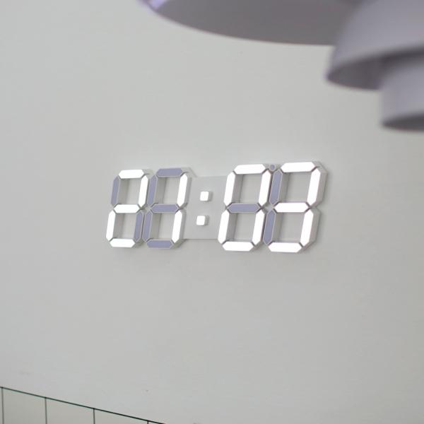 [무아스] 3D LED 벽시계 빅플러스 화이트