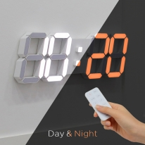 [무아스] 3D LED 벽시계 빅플러스 듀얼