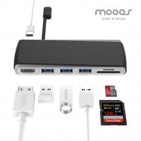 [무아스] USB 타입C 멀티허브 P1
