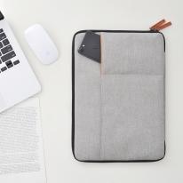 [무아스] 노트북 슬리브 파우치 듀얼포켓 맥북/삼성/LG
