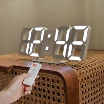 [무아스] 퓨어 30cm 슬림형 led 벽시계 (M) 무선 리모컨 3D 거실시계