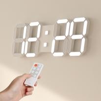 [무아스] 퓨어 39cm 슬림형 led 벽시계 (L) 무선 리모컨 3D 거실시계