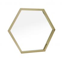 스텐 거울 육각 | 4color | 주문제작상품 [3~7일소요] | 골드