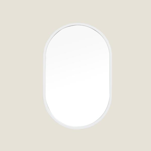 [어반테고] 메탈 타원형 거울 / 화이트