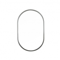 [어반테고] 타원형 거울 / 무광 실버