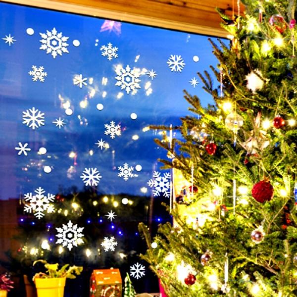크리스마스 눈꽃 스티커