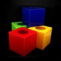 응모함 추첨함 투명 컬러 아크릴 상자