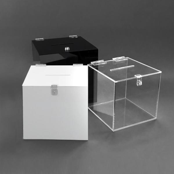 아크릴 모금함 투명 백색 검정 컬러