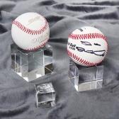 야구공 사인볼 크리스탈 받침대 기념볼 디피용 장식 투명스탠드