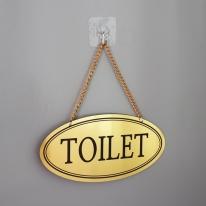 메탈 타원 단면 화장실(공용) 안내판 도어사인 골드/실버/로즈골드 NG1905