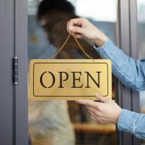 오픈 open 단면걸이 금색 로즈골드사인보드 NG1001안내표지판 팻말