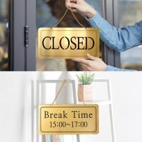 클로즈/브레이크타임 양면걸이 금색 로즈골드NG2005 표시판 도어사인 사인보드