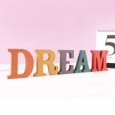 dream DREAM 세트 <br>컬러 MDF 에코보드<br>홈데코 인테리어 이니셜 드림