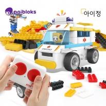푸타오 파이블럭 무선조종 5종변신 구급차 장난감 RC세트