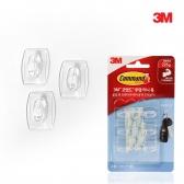 3M 코맨드벽걸이 벽걸이 투명 훅 17006(미니)