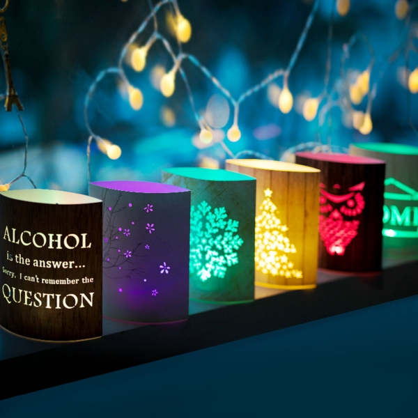 LED 페이퍼 카드 램프 조명 종이 무드등 취침등 선물