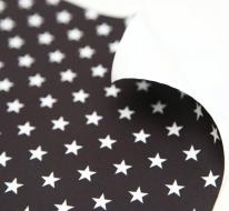 스칸디아 블랙 - 별 패브릭스티커