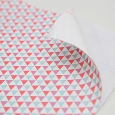 삼각 - 핑크 패브릭스티커
