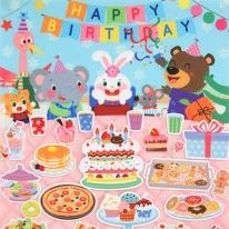 즐거운 생일파티 패턴펠트지