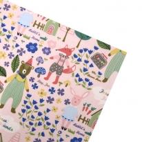 동물의 숲_핑크 패브릭스티커