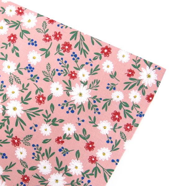 핑크 데이지 패브릭스티커