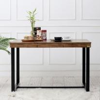 [바네스데코] LD 원목 다크 프레임 2인용 식탁 테이블