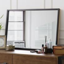 [바네스데코] LD 원목 다크 프레임 사각 대형 거울