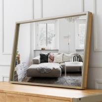 [바네스데코] LR 원목 레트로 프레임 사각 대형 거울