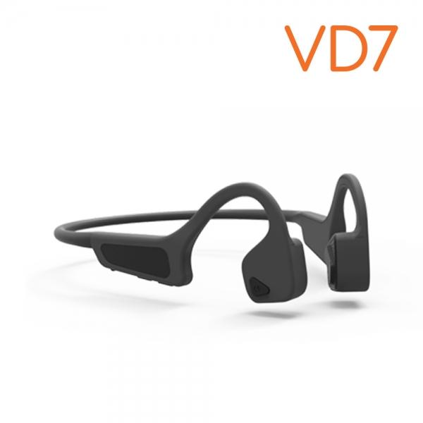 생활지능 골전도 블루투스 헤드셋 이어폰 넥밴드형 VD7 (gray)