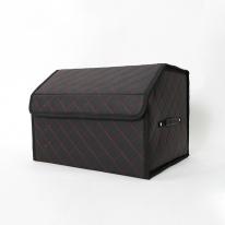 차량용 트렁크 접이식 가죽 정리 수납함 중형(black)