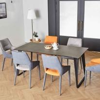제르마노 6인용 세라믹 식탁 헨리코 의자 세트