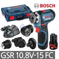 [보쉬] 충전 만능드릴드라이버 GSR10.8V-15FC 어댑터4종