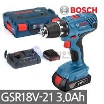 보쉬 충전드릴드라이버 GSR18V-21 18V 3.0Ah 듀얼충전기