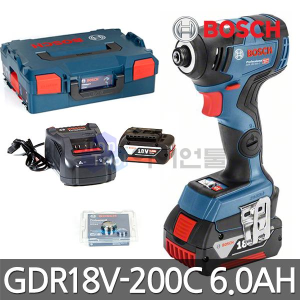 보쉬 충전임팩드라이버 GDR18V-200C 6.0ah 배터리2개
