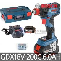 보쉬 충전임팩드릴렌치 GDX18V-200C 6.0Ah 배터리2개