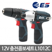 ES산전 충전콤보세트(해머+임팩드릴) L1012C 12V2.0Ah