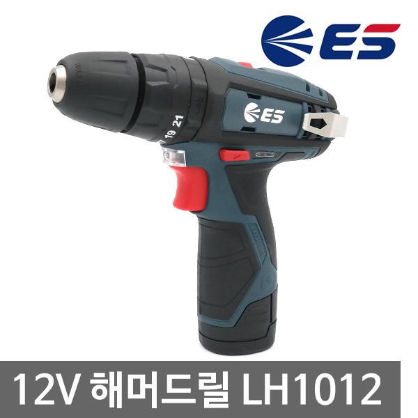 ES산전 충전해머드릴 LH1012 12V 2.0Ah 배터리2개