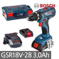 보쉬 충전드릴드라이버 GSR18V-28 18V 3.0Ah 배터리2개
