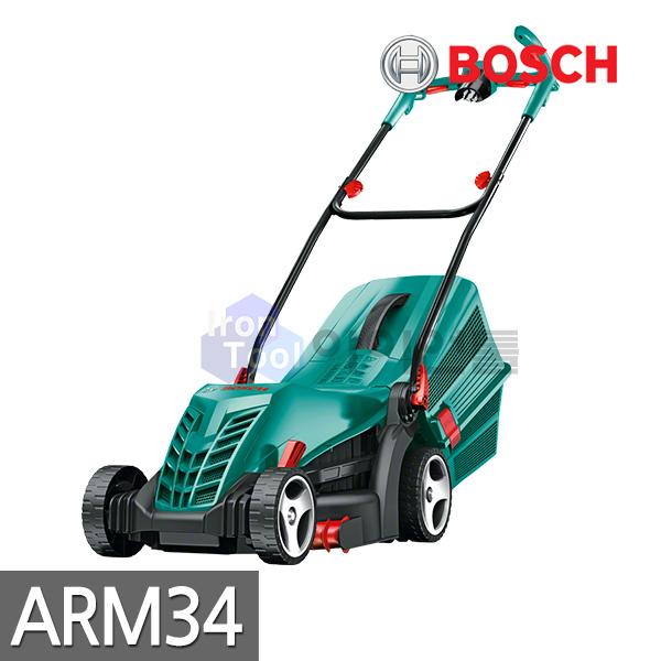 보쉬 가정용 전기잔디깍기 ARM34(1300W) 예초기 제초기