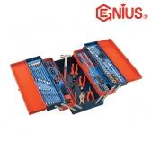 지니어스 공구세트 MS-142TS (142PCS) 비트세트,렌치세트 펜치,해머,플라이어포함