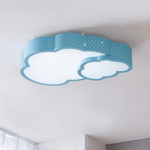 더블 구름 LED 방등 50W (블루/핑크)